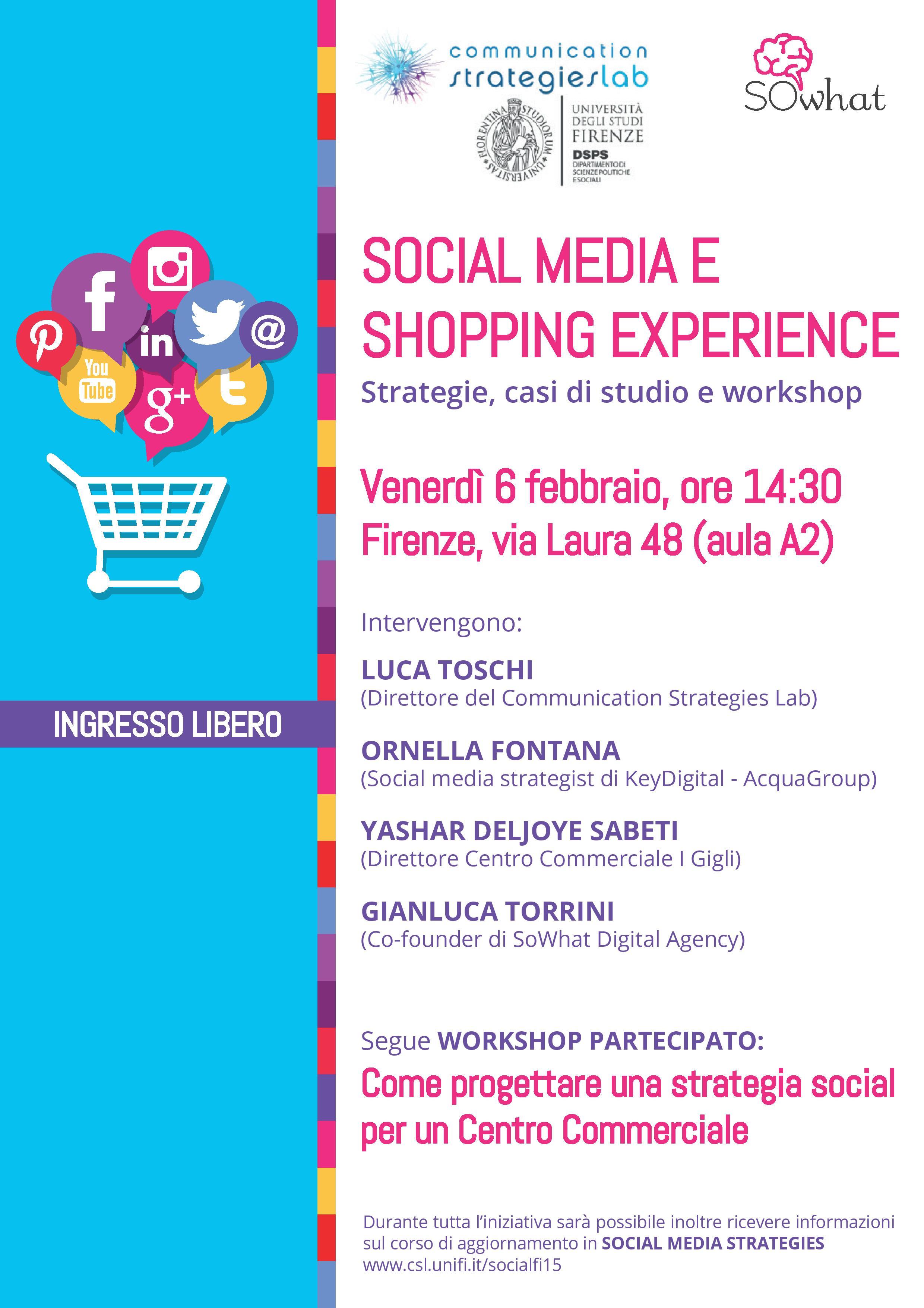 Social Media e Shopping Experience. Strategie, casi di studio e workshop