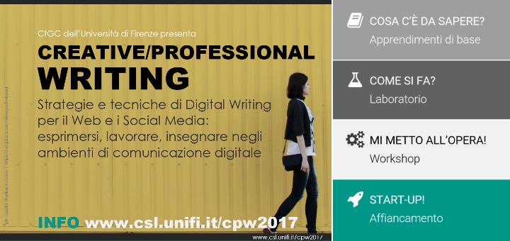 Creative/Professional Writing. Il nuovo Corso del Center for Generative Communication