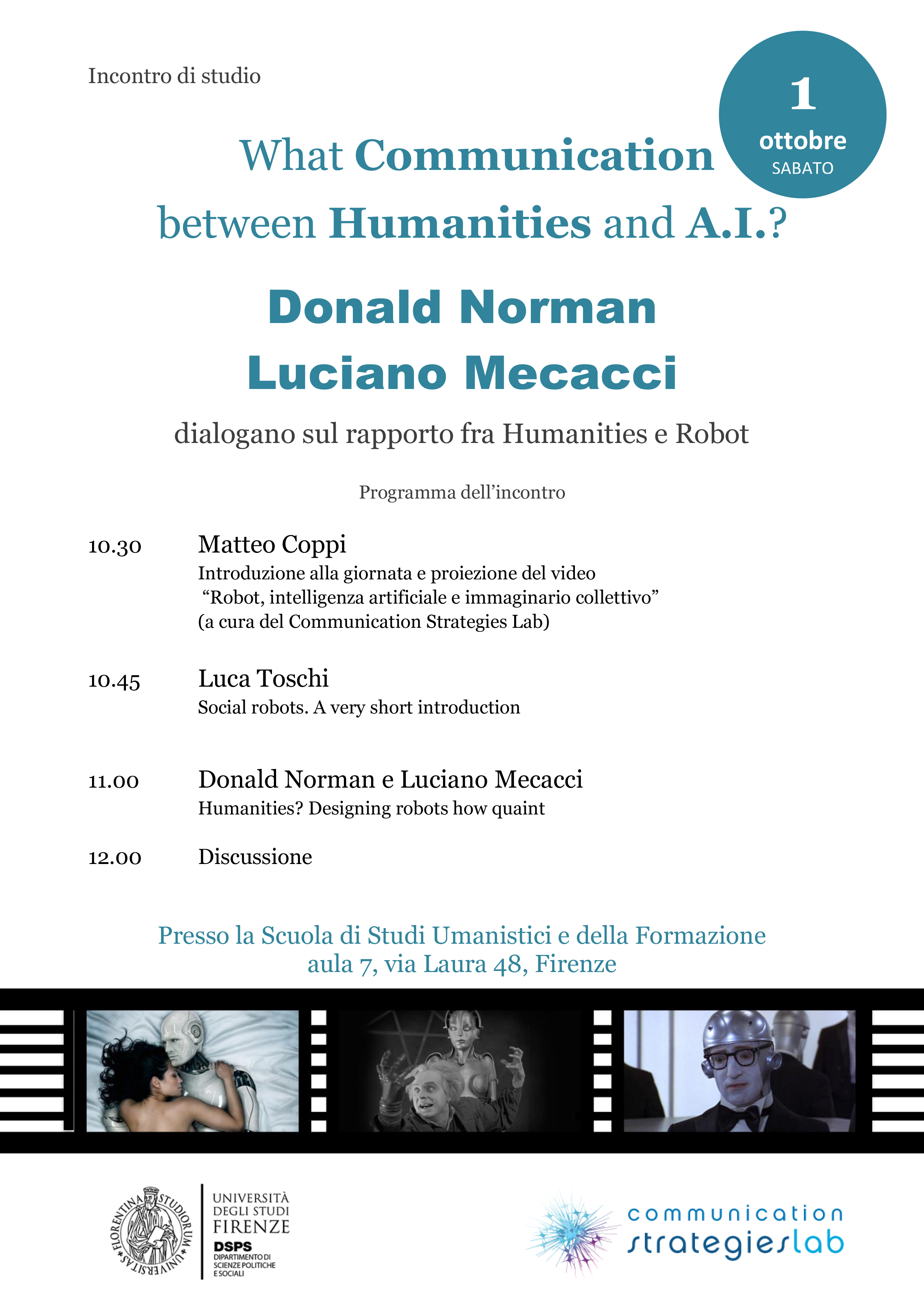 What communication between Humanities and A.I